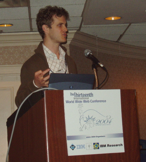 Martin Bernauer talking at WWW2004