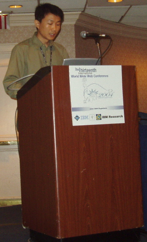 Quanzhong Li speaking at WWW 2004