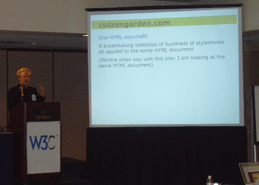 Stephen Pemberton lecturing at WWW2004