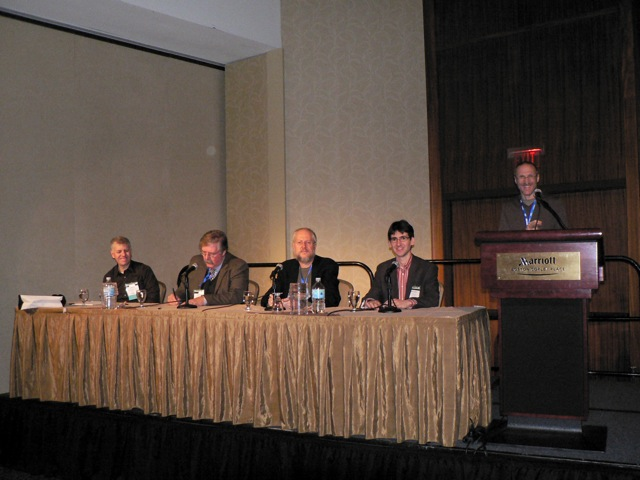 David Megginson, C. Michael Sperberg-McQueen, Douglas Crockford, Michael Day, IDEAlliance host